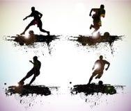 Silhouettes de sport Photos libres de droits