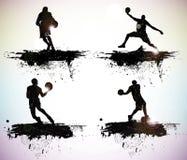 Silhouettes de sport Images libres de droits