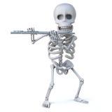 le squelette 3d joue la cannelure illustration stock
