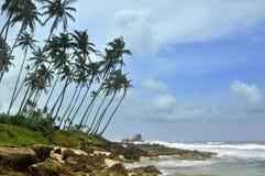 Le Sri Lanka, plage d'Unawatuna Image stock