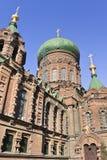 Le St antique Sophia Church à Harbin, la plus grande église orthodoxe orientale en Extrême Orient Image libre de droits