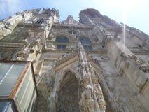 Le St cathetral gotic Petrus Dom à Ratisbonne images stock