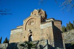 Le St John chez Kaneo dans Ohrid Images stock