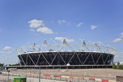 Le stade 2012 de Jeux Olympiques de Londres est en voie d'achèvement Image stock