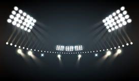 le stade allume le fond illustration libre de droits