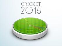 le stade 3D montrant la boule a tiré pour le concept de cricket Photo libre de droits