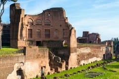 Le stade de Domitian sur la colline de Palatine à Rome Images libres de droits