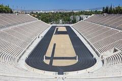 Le stade de Panathenaic à Athènes image libre de droits