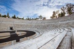 Le stade de Panathenaic à Athènes, Grèce a accueilli les premiers Jeux Olympiques modernes en 1896, également connu comme Kalimar images stock
