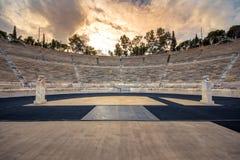 Le stade de Panathenaic à Athènes, Grèce a accueilli les premiers Jeux Olympiques modernes en 1896, également connu comme Kalimar photographie stock