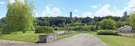 Le stade de sports de l'université de l'Etat de Vilnius a été incorporé Photos libres de droits