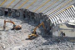 Le stade de Yens d'Ali Sami a été démoli. Images libres de droits