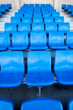 Le stade et le siège bleu Photo stock