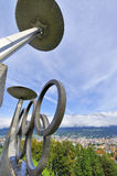 Le Stade Olympique à Innsbruck Photographie stock libre de droits