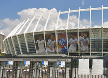 Le Stade Olympique à Kiev, Ukraine Photos stock