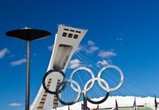 Le Stade Olympique à Monreal, Canada Maison de l'été 1976 Images libres de droits