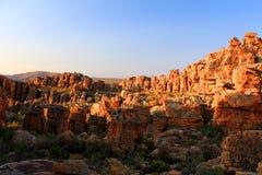 Le Stadsaal foudroie le paysage dans le Cederberg, Afrique du Sud photographie stock libre de droits