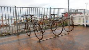 Le stationnement de bicyclette photos libres de droits