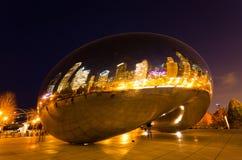 Le stationnement de millénium Chicago du centre Images libres de droits