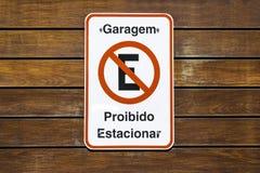 Le stationnement interdit signent dedans le Brésil photo libre de droits