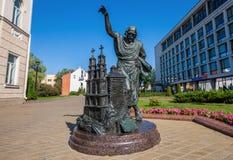 Le statue bronzee di Minsk, Bielorussia immagine stock