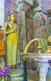 Le statue conservate in vecchio tempio Fotografie Stock Libere da Diritti