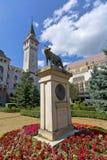 Le statue del lupo di Capitoline (1924), Targu Mures, Romania Immagini Stock
