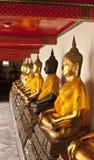 Le statue di seduta del Buddha. Fotografie Stock Libere da Diritti
