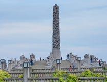 Le statue nella sosta di Vigeland a Oslo, sosta di Norway fotografie stock libere da diritti