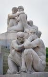 Le statue nella sosta di Vigeland a Oslo, sosta di Norway fotografia stock libera da diritti