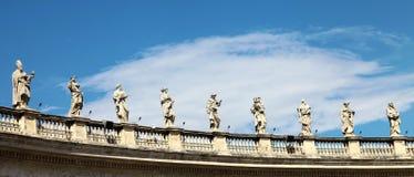Le statue a Vatican Immagini Stock Libere da Diritti