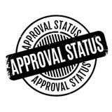 Le statut d'approbation rubberstamp Photo libre de droits