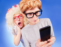 Le statut social de relations de media est compliqué Photo stock