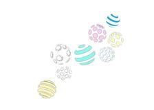 Le stelle decorative dell'ornamento astratto della sfera barra il logo del modello di punto del poligono Immagini Stock
