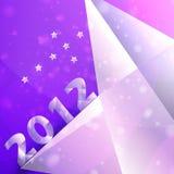 Le stelle di anno 2012 vector la priorità bassa Immagini Stock