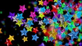 Le stelle di vetro guarda come brilliants, i rubini, zaffiri Fotografia Stock Libera da Diritti