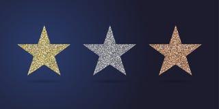 Le stelle dorate fanno festa la raccolta illustrazione di stock