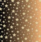 Le stelle e le scintille sopra di nuovo a giallo hanno protetto il fondo Fotografie Stock