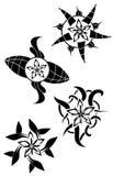 Le stelle tatuano nel nero Fotografie Stock Libere da Diritti