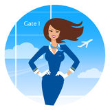 le stewardess Royaltyfri Bild