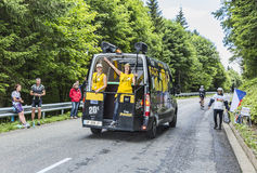Le stock mobile officiel de Tour de France de le Photographie stock libre de droits