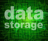 Le stockage de données représente la technologie et le classement d'octets Image libre de droits