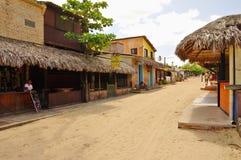 Le strade della sabbia di Jericoacoara Fotografie Stock Libere da Diritti