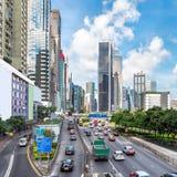 Le strade di Hong Kong Fotografia Stock Libera da Diritti