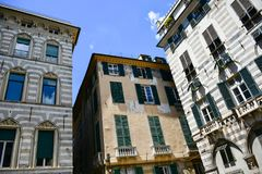 Le Strade Nuove Genua, Italië royalty-vrije stock afbeeldingen