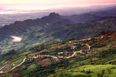 Le strade sulla montagna Fotografia Stock Libera da Diritti