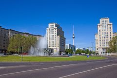 Le Strausberger Platz à Berlin Photo stock