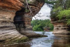 Le streghe Gulch è un'attrazione nascosta nei Dells di Wisconsin e possono Immagine Stock Libera da Diritti