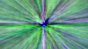 Le strisce variopinte animate astratte delle linee verde e del blu hanno scoppiato il fondo di moto illustrazione vettoriale