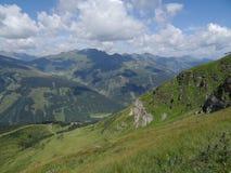 Le Stubnerkogel dans mauvais Gastein Almorama, Salzbourg, Autriche Photo stock